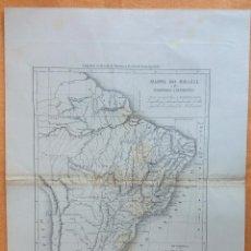 Arte: MAPA ANTIGUO BRASIL CON CERTIFICADO AUTENTICIDAD. MAPAS ANTIGUOS DEL BRASIL AMÉRICA LATINA. Lote 91997940