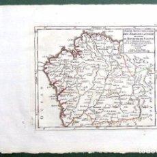 Arte: MAPA ANTIGUO GALICIA AÑO 1749 VAUGONDY CON CERTIFICADO AUTENTICIDAD. MAPAS ANTIGUOS GALICIA. Lote 55115041