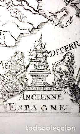 Arte: Mapa antiguo España año 1719 con certificado autenticidad . Mapas antiguos España general - Foto 5 - 56647097