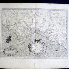 Arte: MAPA ANTIGUO DE VALENCIA MERCATOR/HONDIUS 1609 ORIGINAL CERTIFICADO. MAPAS ANTIGUOS VALENCIA. Lote 48203904