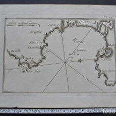 Arte: ROSAS 1779. GRABADO ( ROSAS ). MAPA GRABADO AL COBRE , DE LA OBRA DE ROUX. Lote 102714283