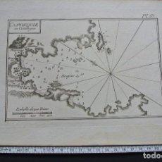 Arte: CABO DE CREUS ( CADAQUES ) 1779 GRABADO CAPDEQUIE EN CATALOGNE DE ROUX. Lote 102716263
