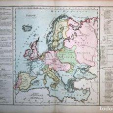Arte: MAPA DE EUROPA, 1790. MORNAS/DESNOS. Lote 102936251