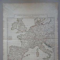 Arte: GRAN MAPA DE ALEMANIA, ITALIA, ESPAÑA, INGLATERRA, IRLANDA,...1794. ANVILLE/ LAURIE WHITTLE. Lote 102937255