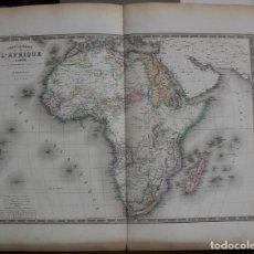Arte: MAPA DE ÁFRICA, 1875. BRUÉ/LEVASSEUR/DELAGRAVE. Lote 109314882