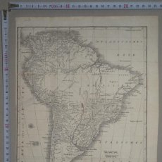 Arte: MAPA DE AMÉRICA DEL SUR, CIRCA 1800. MAECKEN. Lote 103383111