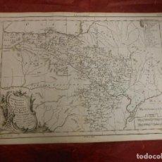 Arte: 1787 MAPA DE ARAGON NAVARRA VIZCAYA POR PHILIPPE DE PRETOT ATLAS UNIVERSAL PARIS. Lote 103519751