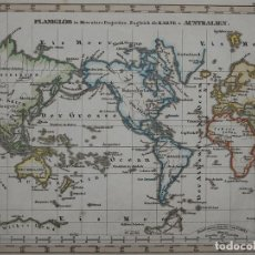 Arte: MAPA DEL MUNDO, 1820. STIELER. Lote 103657471