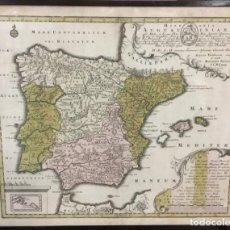 Arte: MAPA HISPANIA AUGUSTINIANA. AUGUSTAE VINDELICORUM, SCULPS. ET VENDIT MATTHAEUS SEÜTTER. (C.1750). Lote 103665223