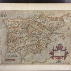 Arte: AÑO 1609. ORTELIUS. REGNI HISPANIAE POST OMNIUM EDITIONES LOCUPLE[TI]SSIMA DESCRIPTIO. . Lote 103668575