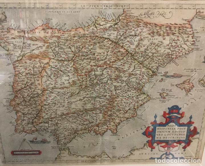 Arte: Año 1609. ORTELIUS. Regni Hispaniae post Omnium editiones locuple[ti]ssima descriptio. - Foto 2 - 103668575