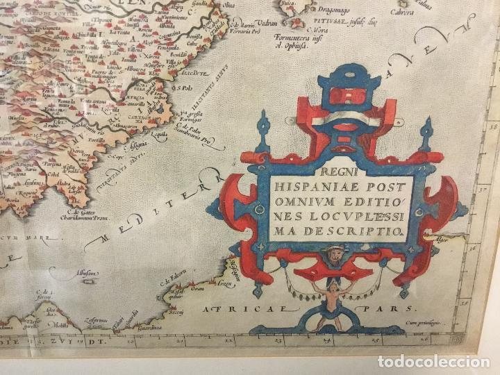 Arte: Año 1609. ORTELIUS. Regni Hispaniae post Omnium editiones locuple[ti]ssima descriptio. - Foto 3 - 103668575