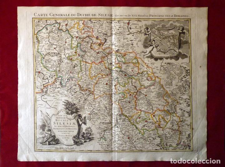 GRAN MAPA ORIGINAL DE ALEMANIA. COVENS ET MORTIER, AMSTELODAMI, 1741. 67,5X54,5 CM., ENMARCADO (Arte - Cartografía Antigua (hasta S. XIX))
