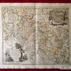 Arte: GRAN MAPA ORIGINAL DE ALEMANIA. COVENS ET MORTIER, AMSTELODAMI, 1741. 67,5X54,5 CM., ENMARCADO. Lote 103747183