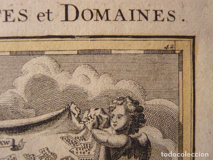 Arte: GRAN MAPA ORIGINAL DE ALEMANIA. COVENS ET MORTIER, AMSTELODAMI, 1741. 67,5x54,5 cm., ENMARCADO - Foto 3 - 103747183