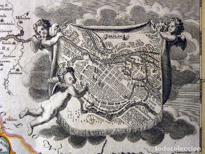 Arte: GRAN MAPA ORIGINAL DE ALEMANIA. COVENS ET MORTIER, AMSTELODAMI, 1741. 67,5x54,5 cm., ENMARCADO - Foto 4 - 103747183