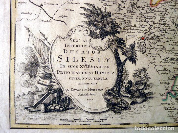 Arte: GRAN MAPA ORIGINAL DE ALEMANIA. COVENS ET MORTIER, AMSTELODAMI, 1741. 67,5x54,5 cm., ENMARCADO - Foto 5 - 103747183