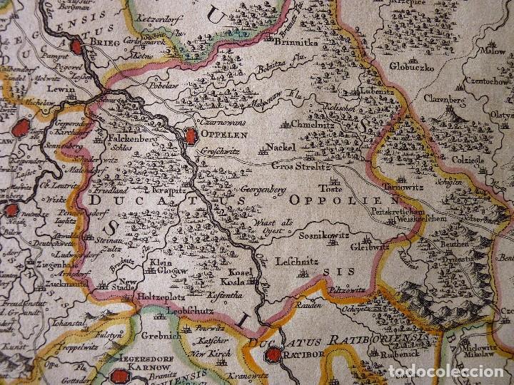 Arte: GRAN MAPA ORIGINAL DE ALEMANIA. COVENS ET MORTIER, AMSTELODAMI, 1741. 67,5x54,5 cm., ENMARCADO - Foto 10 - 103747183
