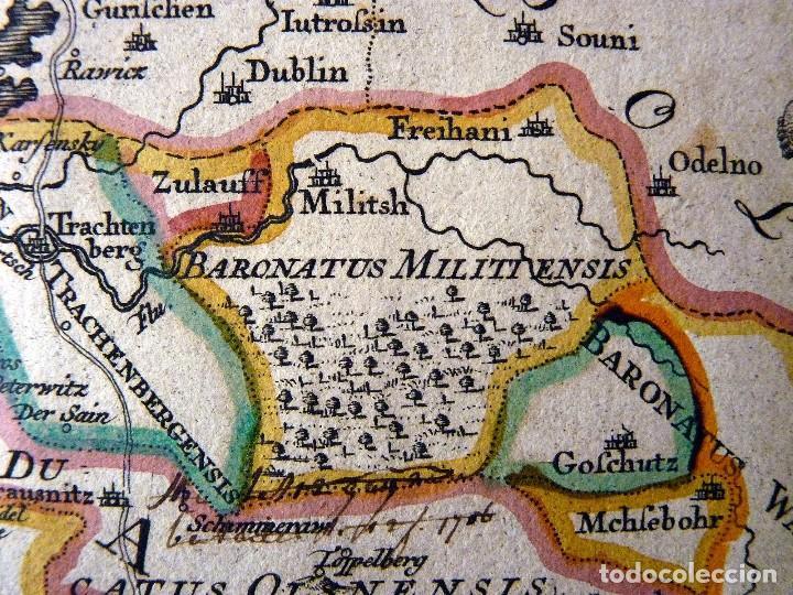 Arte: GRAN MAPA ORIGINAL DE ALEMANIA. COVENS ET MORTIER, AMSTELODAMI, 1741. 67,5x54,5 cm., ENMARCADO - Foto 11 - 103747183