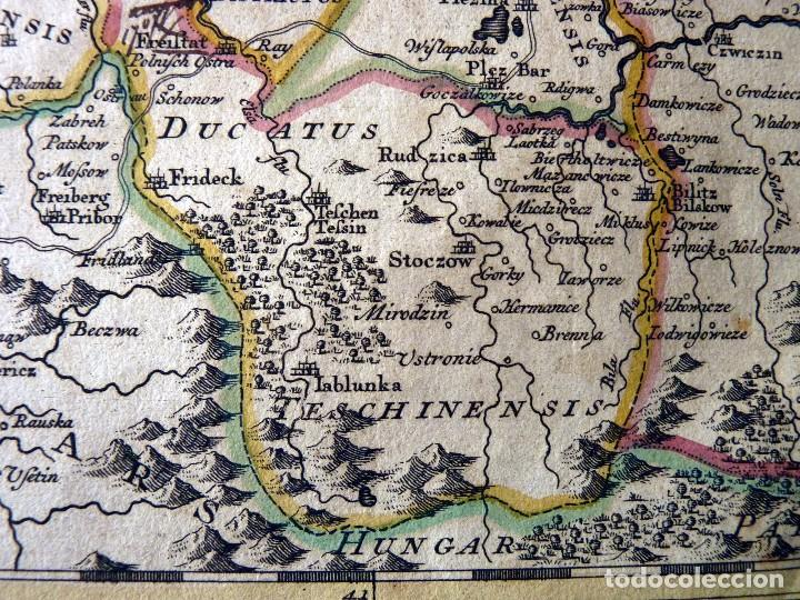 Arte: GRAN MAPA ORIGINAL DE ALEMANIA. COVENS ET MORTIER, AMSTELODAMI, 1741. 67,5x54,5 cm., ENMARCADO - Foto 12 - 103747183