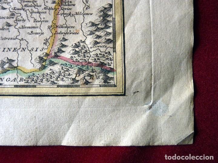 Arte: GRAN MAPA ORIGINAL DE ALEMANIA. COVENS ET MORTIER, AMSTELODAMI, 1741. 67,5x54,5 cm., ENMARCADO - Foto 15 - 103747183