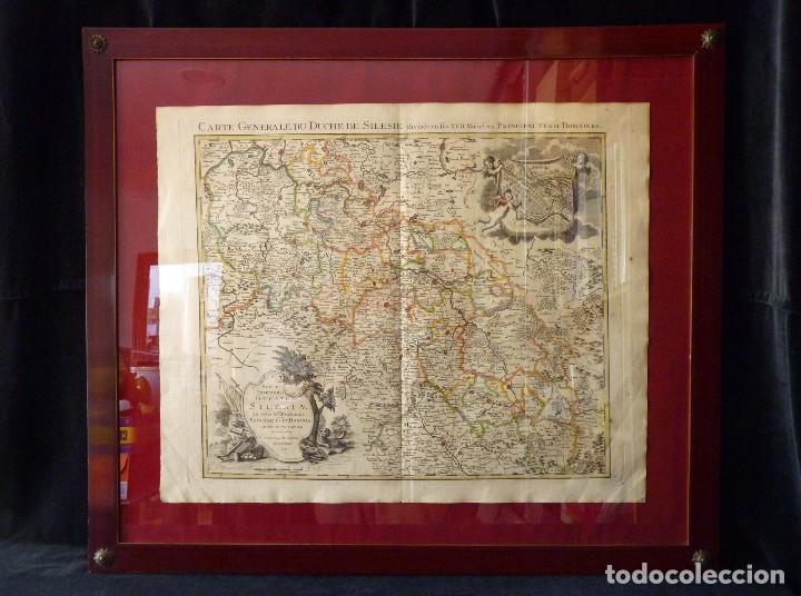 Arte: GRAN MAPA ORIGINAL DE ALEMANIA. COVENS ET MORTIER, AMSTELODAMI, 1741. 67,5x54,5 cm., ENMARCADO - Foto 18 - 103747183