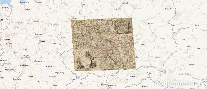 Arte: GRAN MAPA ORIGINAL DE ALEMANIA. COVENS ET MORTIER, AMSTELODAMI, 1741. 67,5x54,5 cm., ENMARCADO - Foto 22 - 103747183