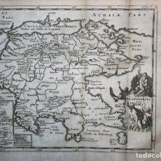 Arte: MAPA DE PELOPONESO O MOREA, GRECIA, 1711. CLUVER/BUNONE/NICHOLSONI. Lote 103906091