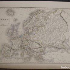 Arte: MAPA DE EUROPA, 1844. SIDNEY HALL/ADAM Y CHARLES BLACK. Lote 103908039