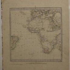 Arte: MAPA DEL HEMISFERIO ORIENTAL DEL MUNDO Y ÁFRICA, 1831. WALKER/ SDUK. Lote 103908439