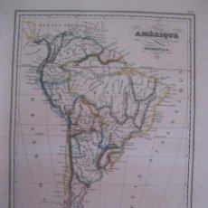 Arte: MAPA DE AMÉRICA DEL SUR, 1884. ZELL. Lote 103910071