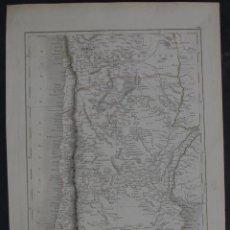 Arte: MAPA DE ARGENTINA, CHILE, BOLIVIA...,1844. HALL/ CHARLES BLAK. Lote 103910331
