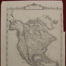 Arte: MAPA DE AMÉRICA DEL NORTE, 1855. JOHN RAPKIN. Lote 103912159