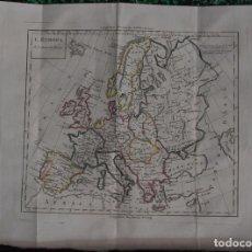 Arte: MAPA DE EUROPA, 1840. LAMARCH. Lote 104283323