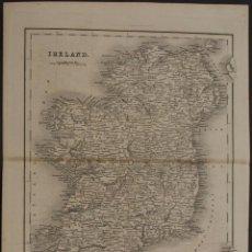 Arte: MAPA DE IRLANDA, 1837. JOHN DOWER. Lote 104304651