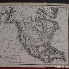 Arte: MAPA DE AMÉRICA DEL NORTE Y CENTRAL, 1880. MILICA. Lote 104305055