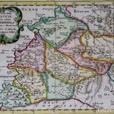 Arte: MARRUECOS (MARAKECH) MAPA POR SANSON/HALMA (1704), ´T KONINKRYK VAN MAROCCO, ... Lote 104371963