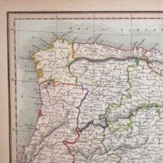 Arte: MAPA DE ESPAÑA Y PORTUGAL, 1853. FINDLAY/TEGG. Lote 104552139