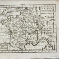 Arte: MAPA DE FRANCIA, 1769. BUFFIER. Lote 104552263