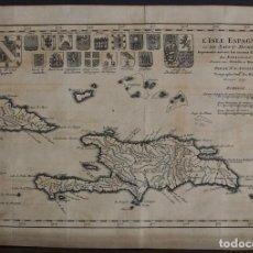 Arte: MAPA DE LA ISLA DE SANTO DOMINGO (HAITÍ-SANTO DOMINGO, AMÉRICA), 1731. ANVILLE. Lote 104555175