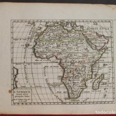 Arte: MAPA DE ÁFRICA, 1748. VAUGONDY. Lote 104602343