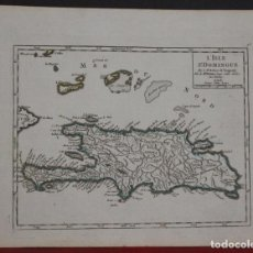 Arte: MAPA DE LA ISLA DE SANTO DOMINGO (AMÉRICA), 1749. VAUGONDY. Lote 104602411
