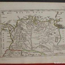 Arte: MAPA DE COLOMBIA, VENEZUELA... AMÉRICA DEL SUR), 1749. VAUGONDY. Lote 104602527