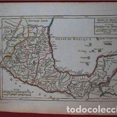 Arte: MAPA DE CENTROAMÉRICA, MÉXICO, YUCATAN..., (AMÉRICA DEL NORTE) 1749. VAUGONDY. Lote 104602651