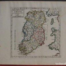 Arte: MAPA DE IRLANDA, 1748. VAUGONDY. Lote 104602695