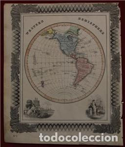 MAPA DE AMÉRICA, 1870. MACDONALD (Arte - Cartografía Antigua (hasta S. XIX))