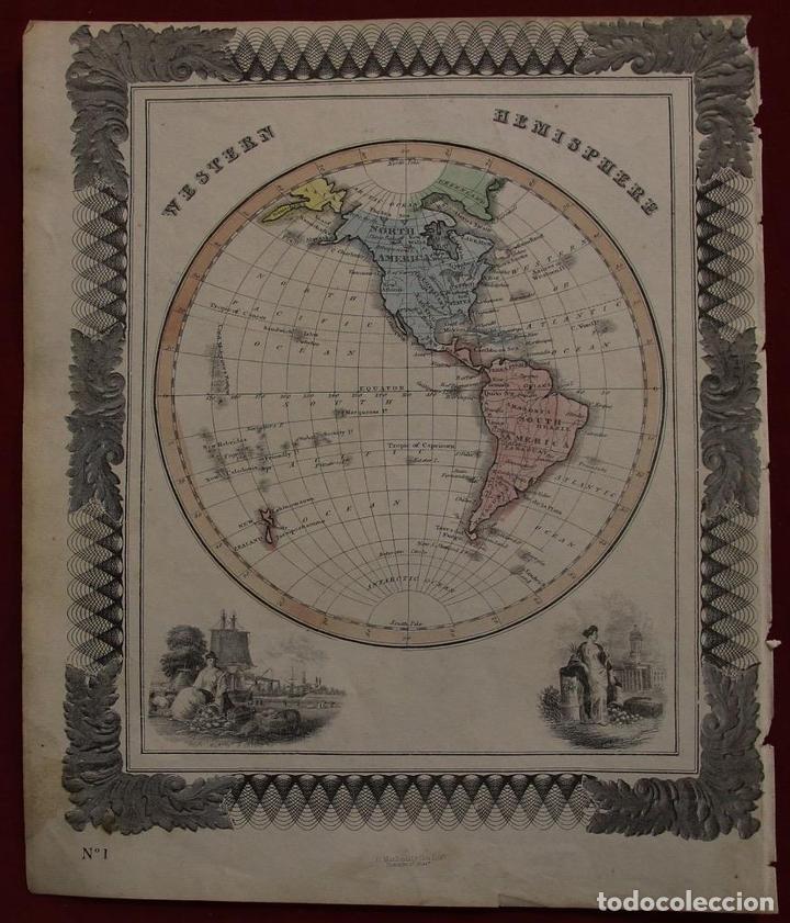 Arte: Mapa de América, 1870. Macdonald - Foto 2 - 104602867