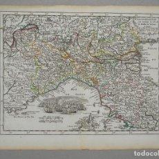Arte: MAPA DE ITALIA (TOSCANA, LOMBARDIA,..),1743. LE ROUGE. Lote 104602995