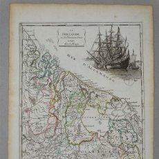 Arte: MAPA DE HOLANDA (EUROPA), 1756. LE ROUGE. Lote 104603263