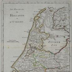 Arte: MAPA DE HOLANDA ( PAISES BAJOS, EUROPA)), 1756. LE ROUGE. Lote 104603343